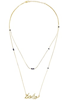 Gold Plated Boho Chain Necklace by Mirakin
