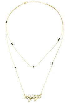 Gold Plated Voyage Chain Necklace by Mirakin