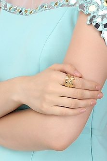 Gold Plated Kerala Cityscape Ring by Mirakin