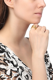 Gold Plated Colosseum Landscape Ring by Mirakin