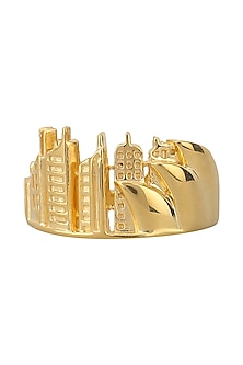 Gold Plated Opera House Landscape Ring by Mirakin