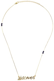 Gold Plated Discover Chain Necklace by Mirakin