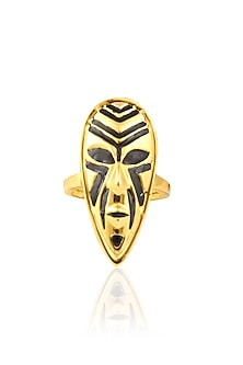 Gold Plated Something Tribal Ring by Mirakin