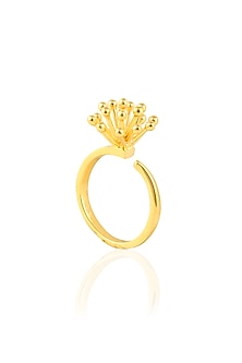 Gold Plated Glitter Ring by Mirakin