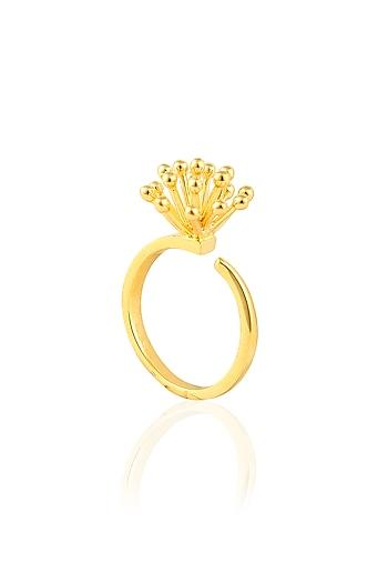 Gold Plated Glitter Ring by Mirakin