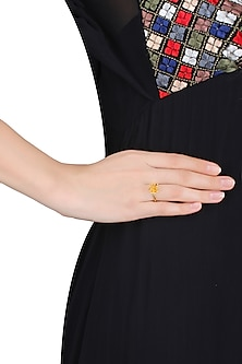 Gold Plated Glitter Ring