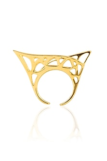 Gold Plated Parallel Universe Ring by Mirakin