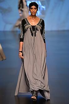 Grey High Priestess Kaftan by Malini Ramani