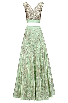 Mint Green Embelished Lehenga Set