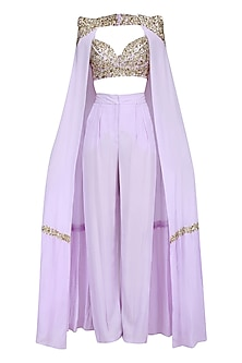 Lavender Cape Pant Set