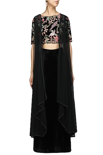 Embroidered Top Palazzo