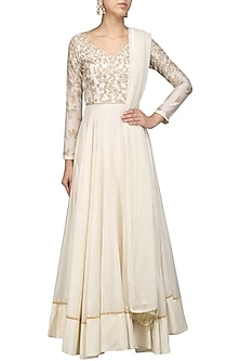 Thread Beads Anarkali Set