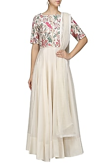 Beads Multicolor Work Anarkali