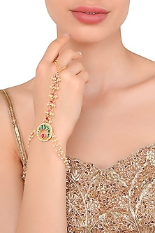 Gold Plated Kundan Haath Phool