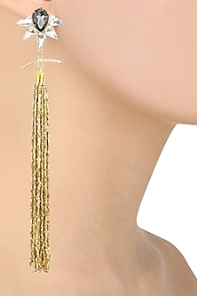 Gold finish turkish gold beads tassel earrings