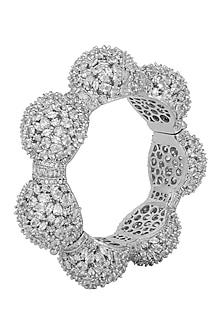 Gold Plated Silver Diamond Kada by Moh-Maya by Disha Khatri