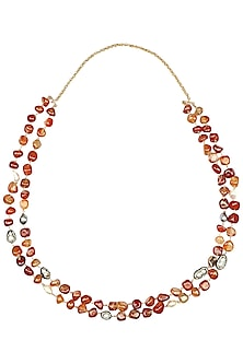 Coral Beads Double Layered Necklace by Moh-Maya by Disha Khatri