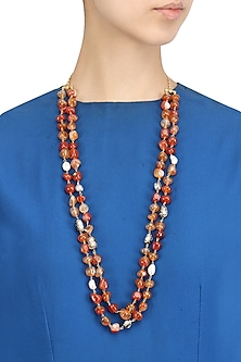 Coral Beads Double Layered Necklace
