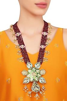Gold Plated Minakari Necklace by Moh-Maya by Disha Khatri