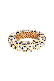 Gold Plated Meenakari Bangle by Moh-Maya by Disha Khatri