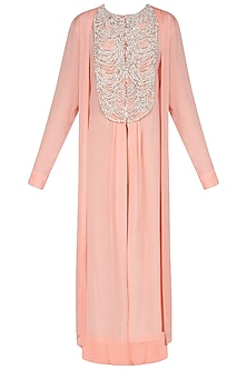 Peach Pearl Embroidered Tunic