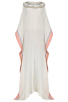 Ivory Sequins Embroidered Kaftan