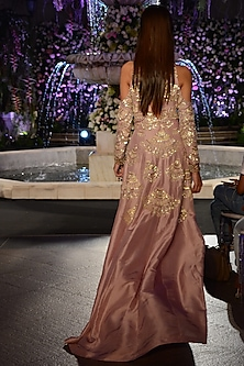 Lilac Sequins Embroidered Kurta and Pants Set by Manish Malhotra