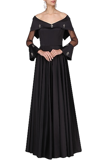 Black Off Audrey Gown