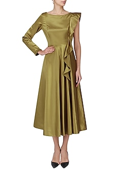 Gold Bronze Midi Dress