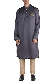 Grey Embroidered Kurta by More Mischief