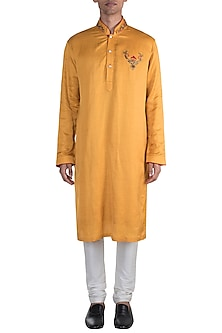 Yellow Embroidered Kurta by More Mischief