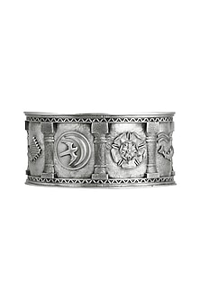 Silver Finish Sigil Storm Cuff by Masaba
