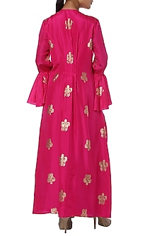 Fushcia pink printed kurta with green palazzo by Masaba