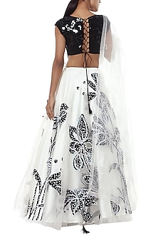 Black and white embroidered lehenga set by Masaba