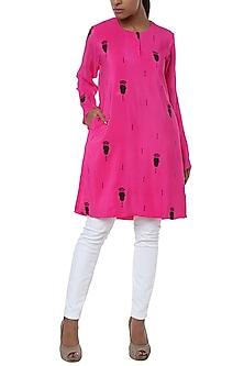 Pink printed kurta by Masaba