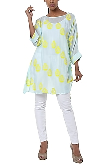 Ice blue printed tunic by Masaba