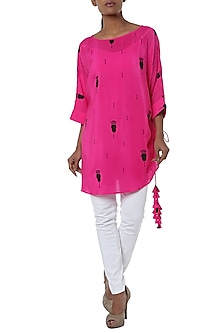 Pink printed tunic by Masaba