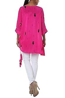 Pink printed tunic