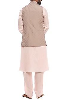 Baby Pink Kalash Bandi Jacket With Kurta & Pants