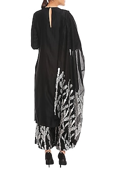 Black Egyptian Printed Kurta Set by Masaba