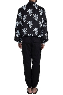 Black & White Lannister Sigil Bomber Jacket With Pants by Masaba Men X GOT