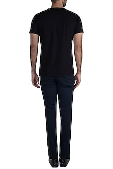 Black Gold Foil Stark Sigil T-Shirt by Masaba Men X GOT