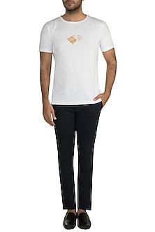 White Gold Foil Stark Sigil T-Shirt by Masaba Men X GOT