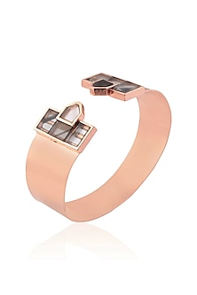 Rose Gold Mosaic Cuff by Malvika Vaswani