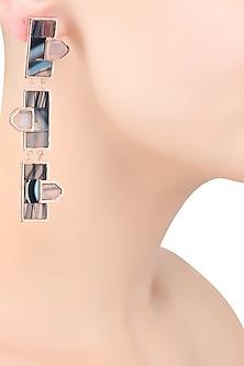 Rose Gold Triple Mosaic Earrings by Malvika Vaswani