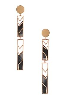 Gold Plated Mosaic Earrings by Malvika Vaswani