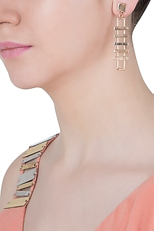 Rose gold plated slat earrings