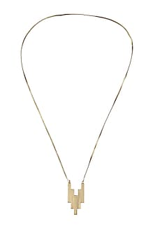 Gold plated 34/5 pendant necklace by Malvika Vaswani