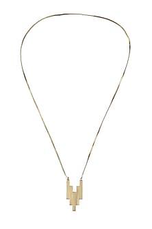 Gold plated 34/5 pendant necklace by Malvika Vaswani