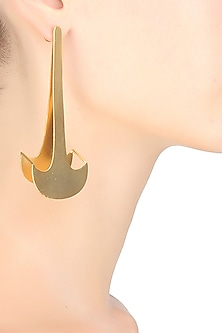Gold plated Corodoba largo earrings by Malvika Vaswani